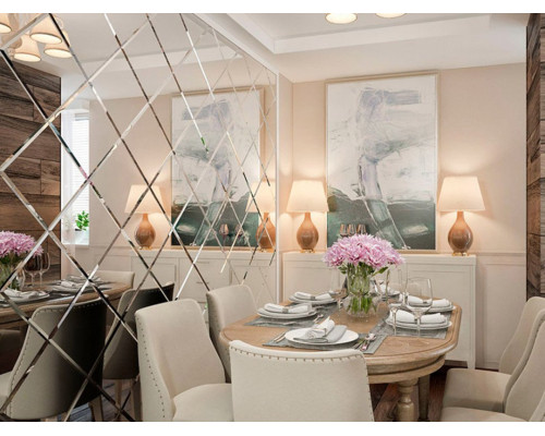 Зеркальные стены в ресторан и кафе